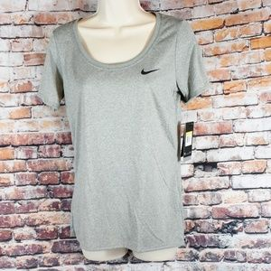 Nike Small Anti Odor T Shirt Dry Fit Gray Scoop Nk